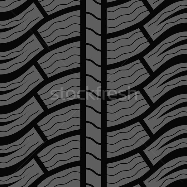 Automobile winter tire seamless vector pattern. Stock photo © tuulijumala