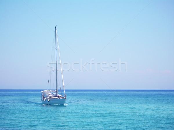 Yacht in the Mediterranean sea Stock photo © tuulijumala