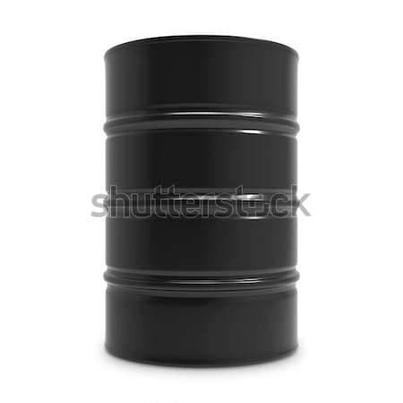 Standard black oil barrel isolated on white background.  Stock photo © tuulijumala