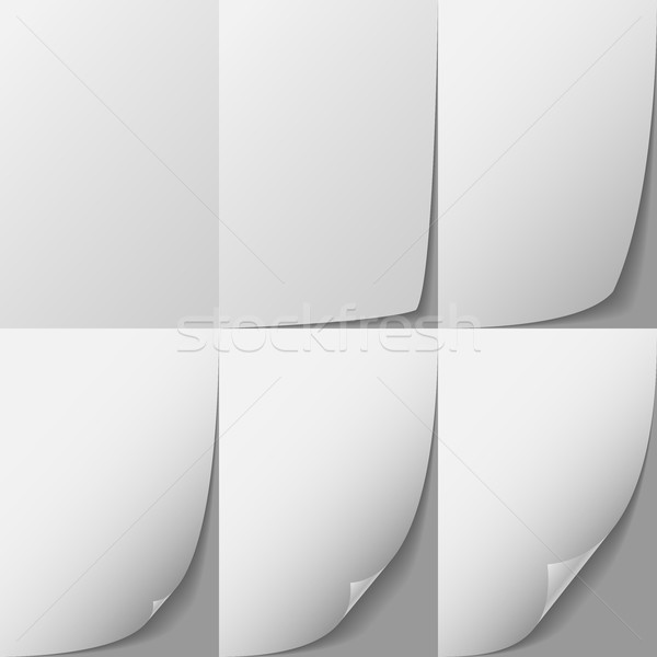 White paper page corner curl vector sprite. Stock photo © tuulijumala