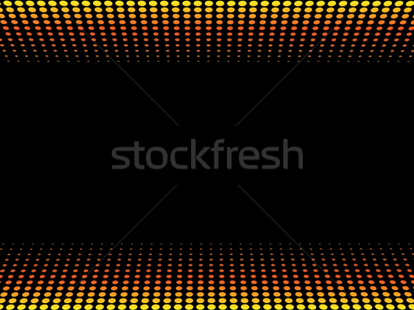 Symmetrical  fire halftone vector background with black copy spa Stock photo © tuulijumala