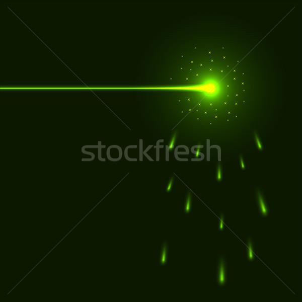 Zöld lézer nyaláb copy space absztrakt fény Stock fotó © tuulijumala