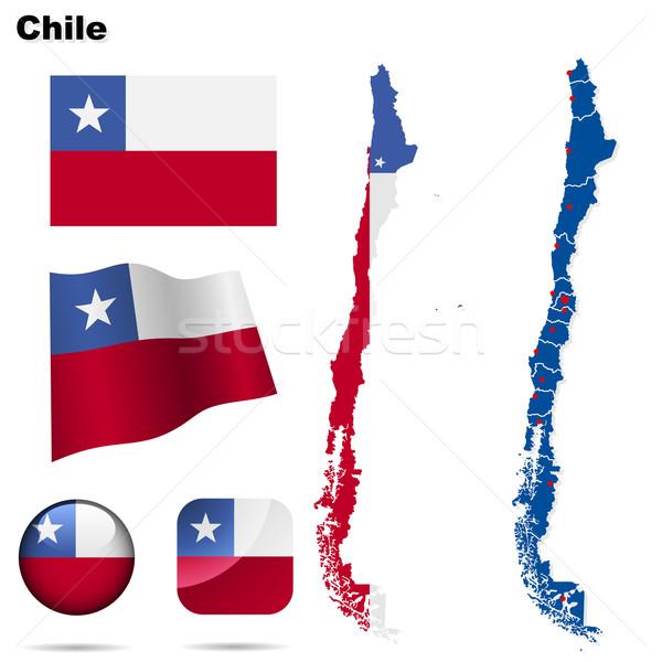 Stockfoto: Chili · vector · ingesteld · gedetailleerd · land · vorm