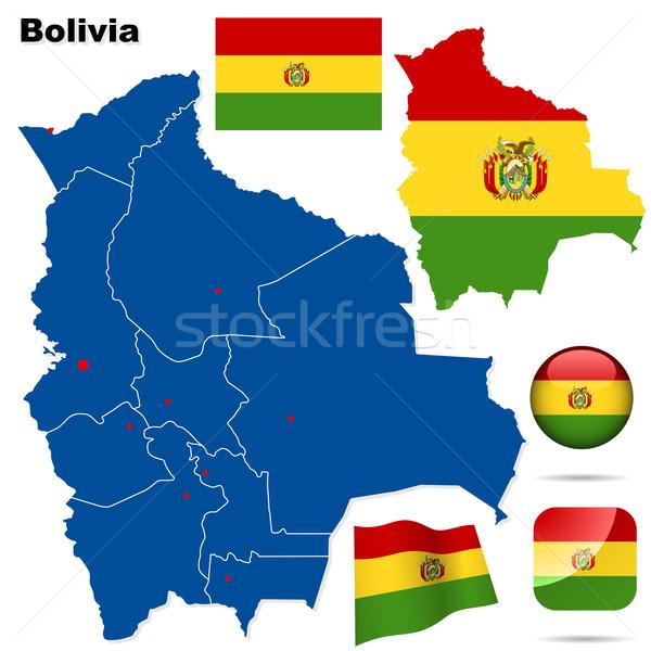 Bolivia vettore set dettagliato paese Foto d'archivio © tuulijumala