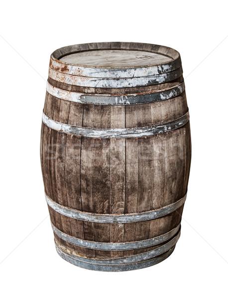 Klasszikus tölgy hordó izolált fehér bor Stock fotó © tuulijumala