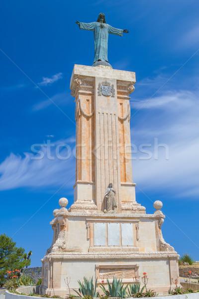 Statue of Jesus of the Sacred Heart at Menorca Stock photo © tuulijumala