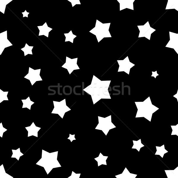 Seamless black and white stars pattern. Stock photo © tuulijumala