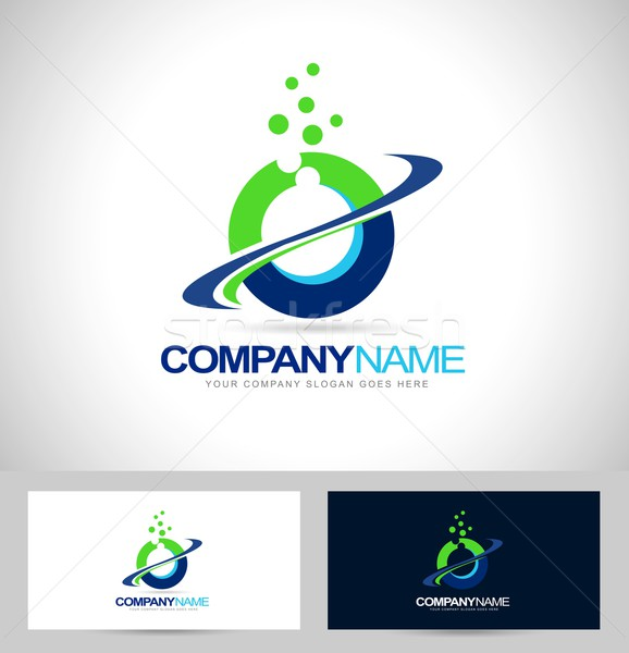 Logo Design with Swash Stock photo © twindesigner
