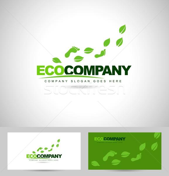 Eco pied imprimer conception de logo Creative logo Photo stock © twindesigner