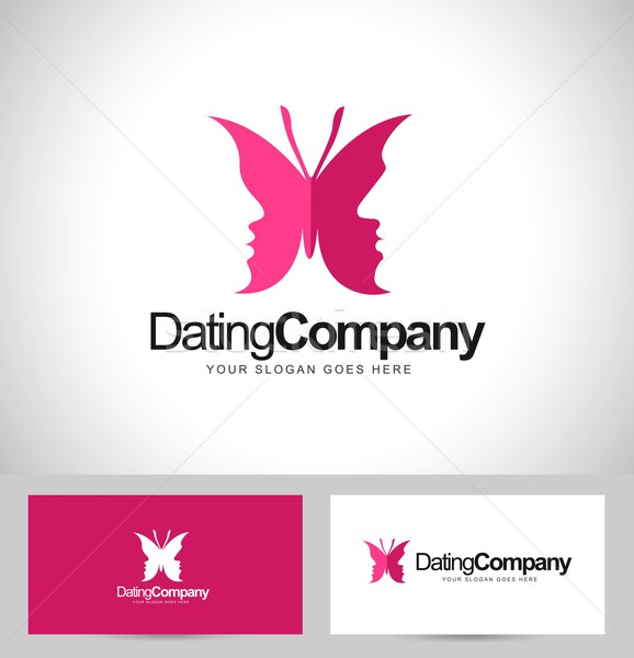 Dating Butterfly logo Stock photo © twindesigner