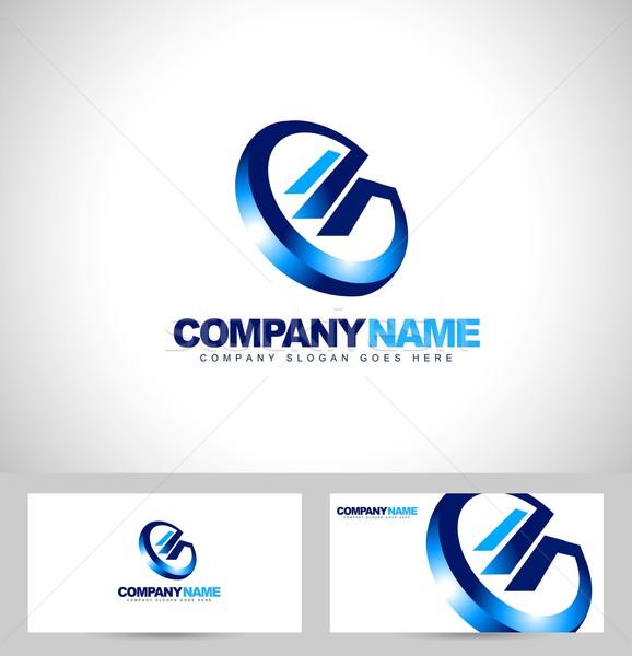 аннотация письме логотип Creative дизайн логотипа синий Сток-фото © twindesigner