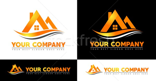 Immobilier maison design Creative vecteur icônes Photo stock © twindesigner