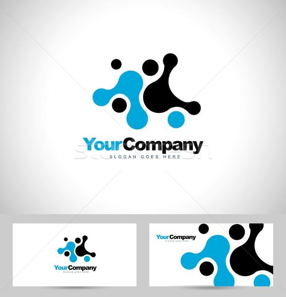 синий логотип вектора аннотация бизнеса компания Сток-фото © twindesigner