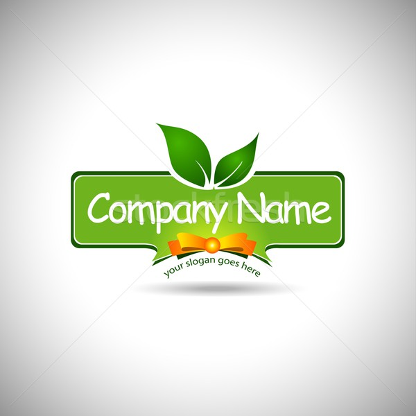 Alimentaire étiquette conception de logo Creative société carte Photo stock © twindesigner