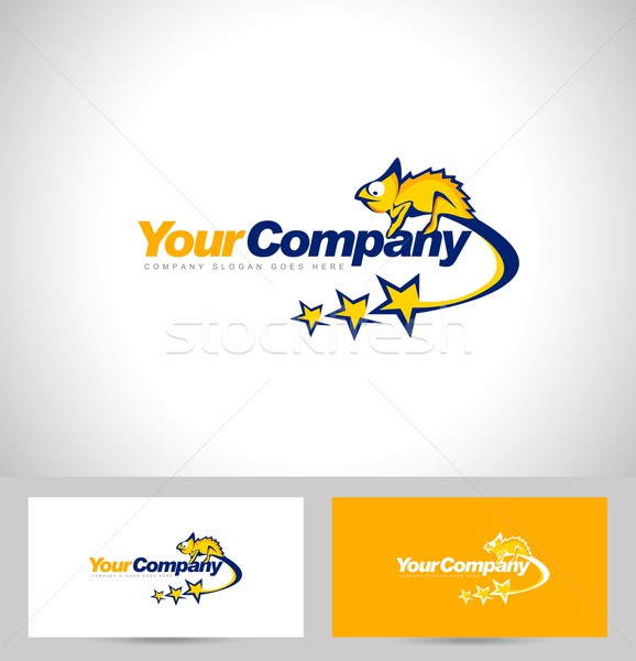 Chameleon Logo Design Stock photo © twindesigner
