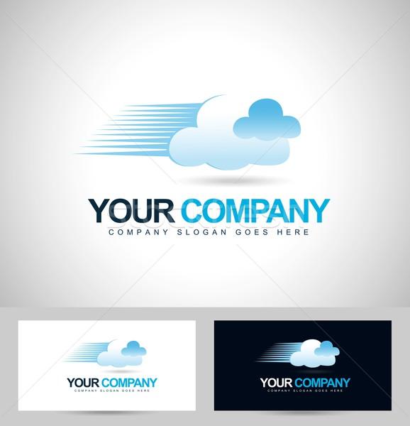 Nuage logo Creative technologie vecteur design Photo stock © twindesigner