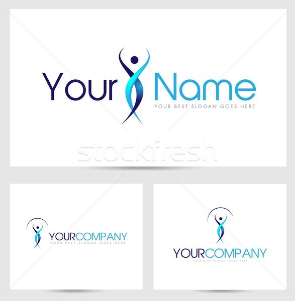Silhouette logo Creative résumé homme société Photo stock © twindesigner
