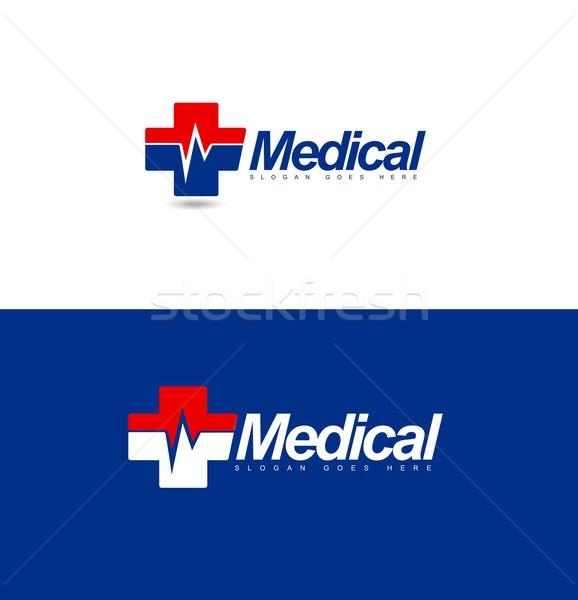 Médicaux conception de logo design hôpital vecteur icône Photo stock © twindesigner