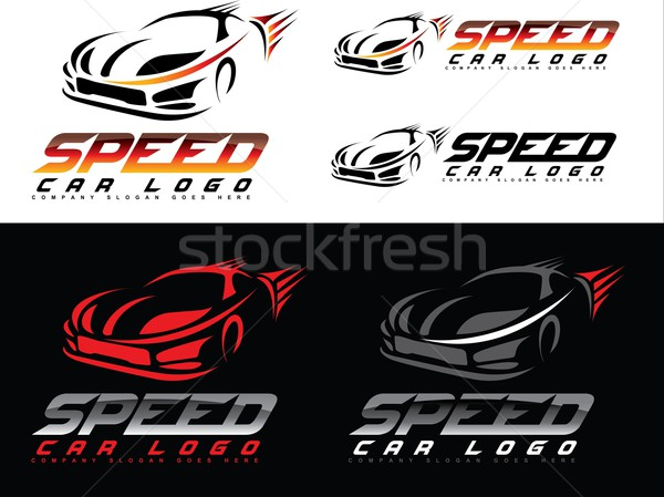 Vitesse voiture logo design Creative sport Photo stock © twindesigner