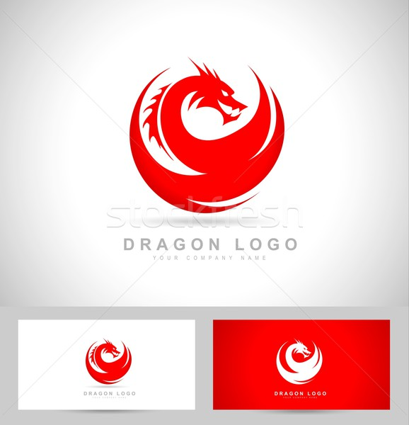 Dragon Logo Vector Stock photo © twindesigner