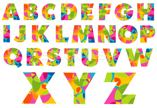 Alphabet coloré lettres Creative design affiche Photo stock © twindesigner