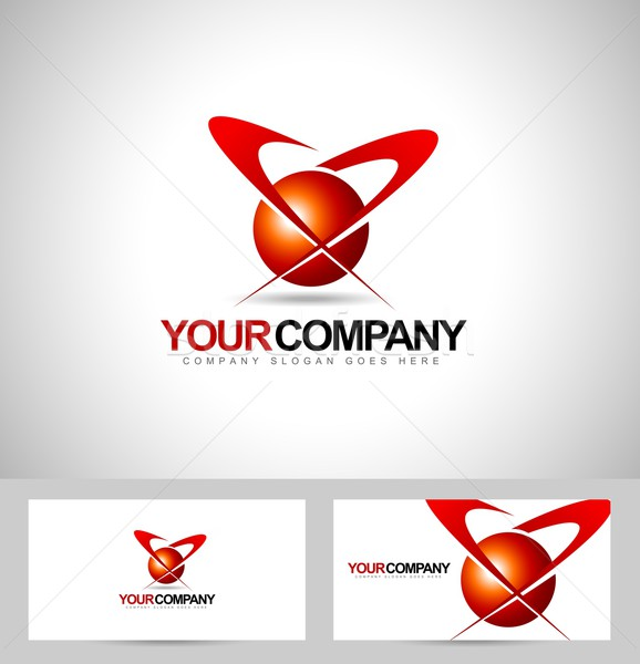Business corporate logo Stock photo © twindesigner