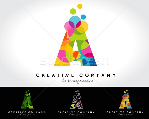 письме вектора логотип Creative аннотация красочный Сток-фото © twindesigner