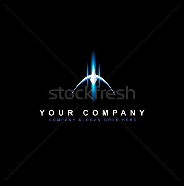 логотип вектора дизайна Creative футуристический пространстве Сток-фото © twindesigner