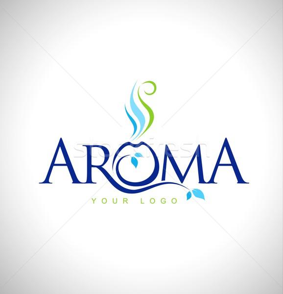 аромат терапии дизайн логотипа ароматический дизайна Сток-фото © twindesigner