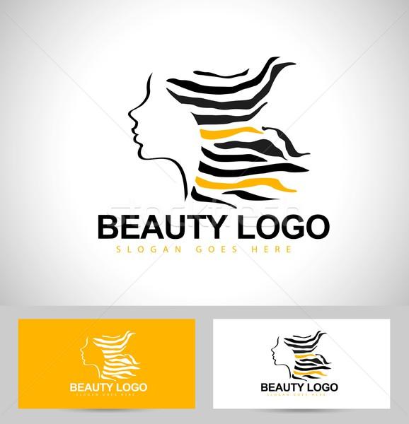 Beauty Female Face Logo Design Stock photo © twindesigner