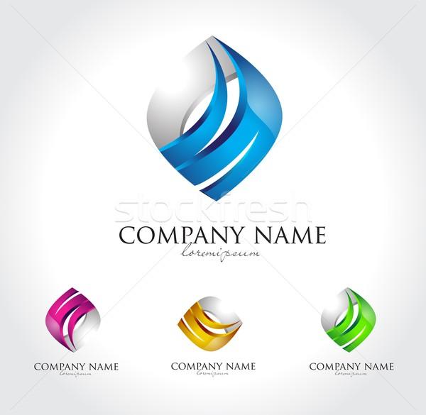 бизнеса корпоративного дизайн логотипа Creative аннотация логотип Сток-фото © twindesigner