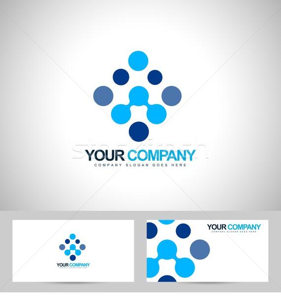 Bleu logo vecteur résumé affaires société Photo stock © twindesigner