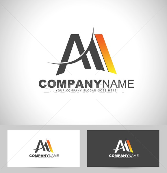 Letra m diseño de logotipo creativa diseno tarjeta de visita plantilla Foto stock © twindesigner