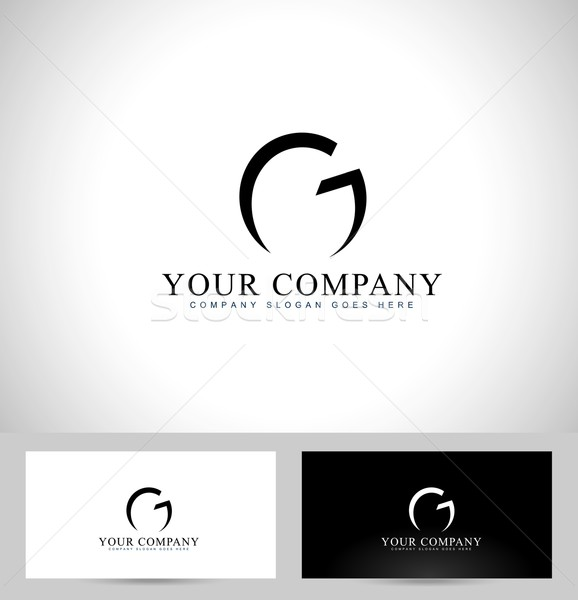 Conception de logo Creative logo carte de visite modèle Photo stock © twindesigner