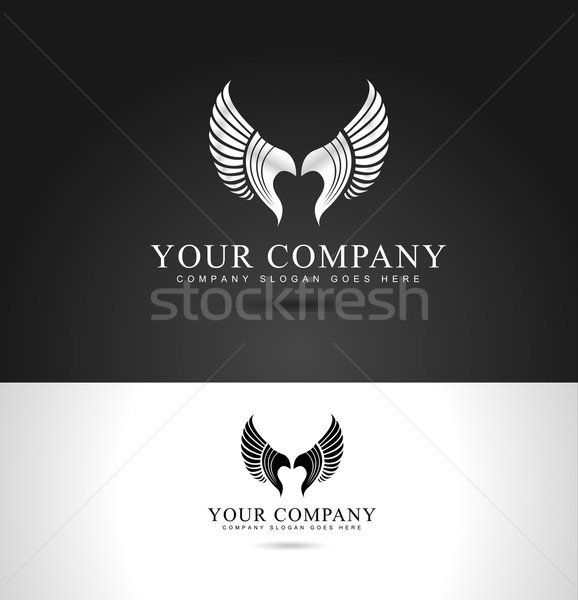 крыльями дизайн логотипа орел логотип шаблон Creative Сток-фото © twindesigner