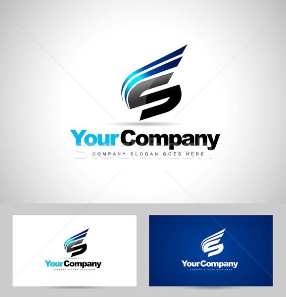Mektup logo tasarımı yaratıcı vektör dizayn soyut Stok fotoğraf © twindesigner