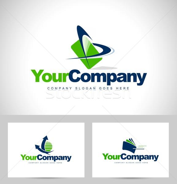 Design Creative vert entreprise logo Photo stock © twindesigner