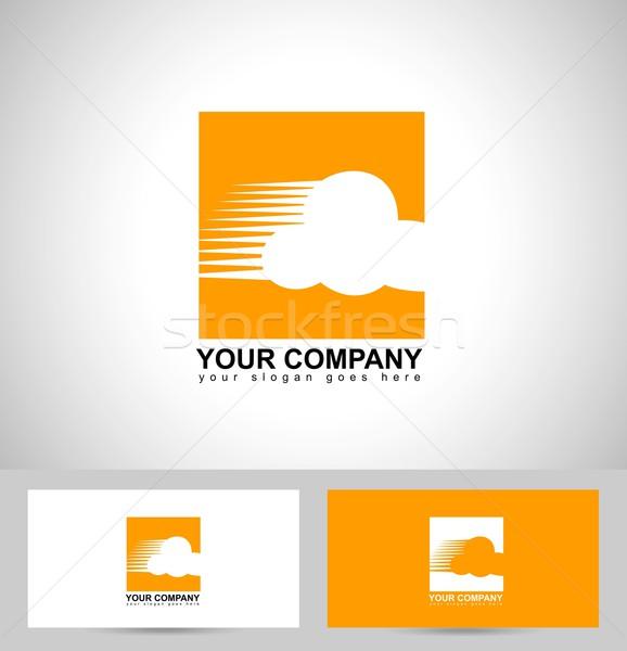 облаке логотип дизайна визитной карточкой шаблон фон Сток-фото © twindesigner