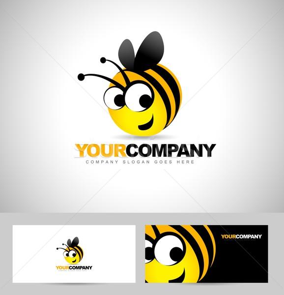 Bee Logo Design Concept Stock photo © twindesigner