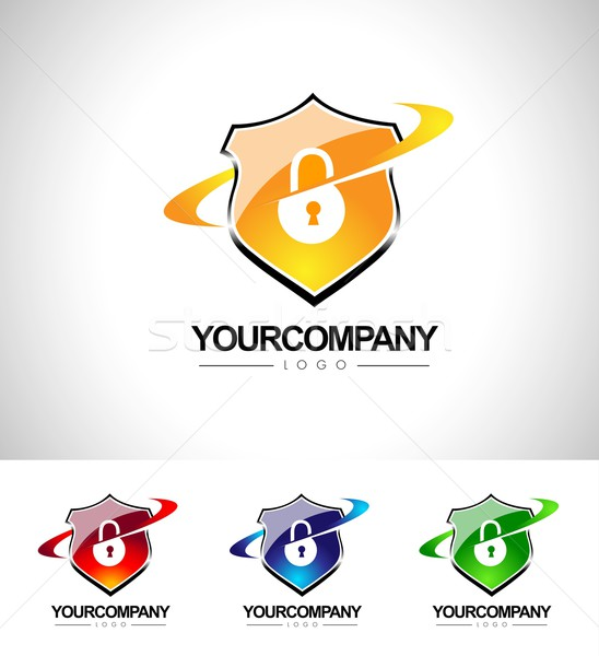 Security Shield Design Stock photo © twindesigner