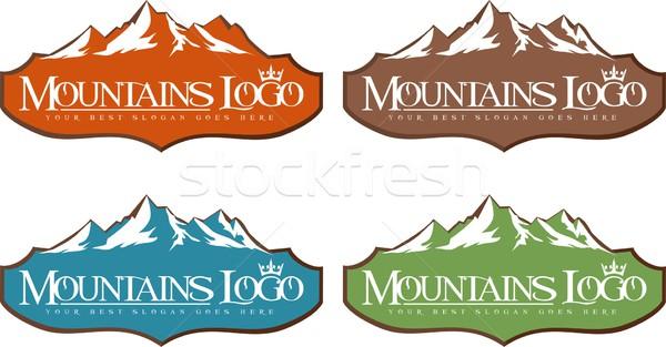 Montagne logo design Creative vecteur icône Photo stock © twindesigner