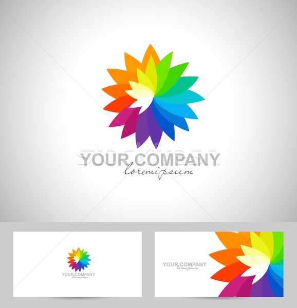 Creative Flower Vector Logo Stock photo © twindesigner
