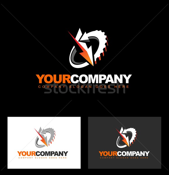 Monteur engineering logo vector abstract illustratie Stockfoto © twindesigner