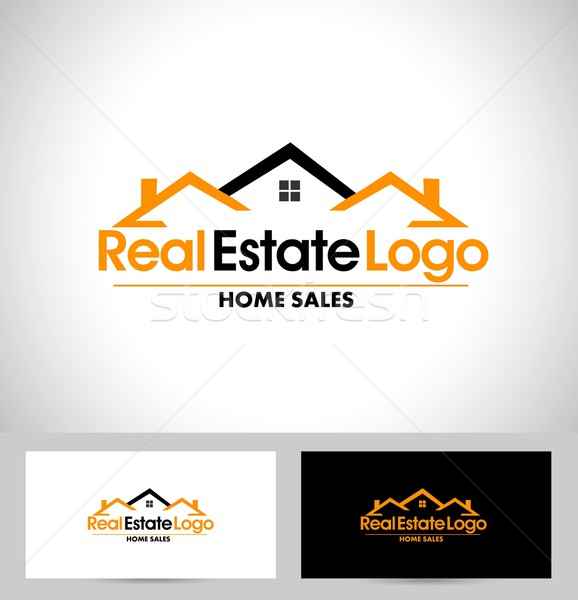 недвижимости логотип дизайна дома Creative вектора Сток-фото © twindesigner
