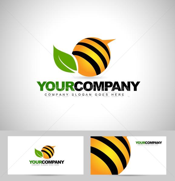 Bee Logo Design Stock photo © twindesigner