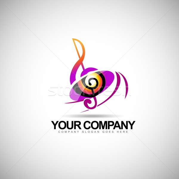 Music Logo vector Stock photo © twindesigner
