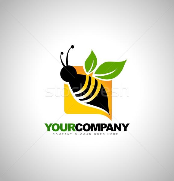 Bee дизайн логотипа аннотация Creative производитель логотип Сток-фото © twindesigner