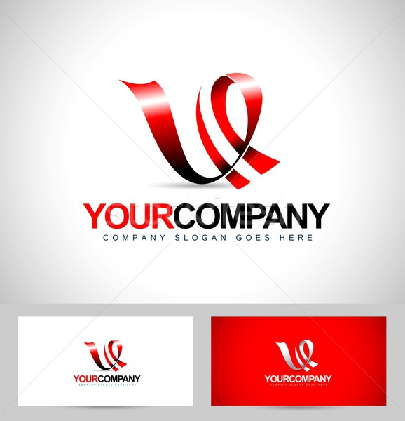 Letter V Logo design Stock photo © twindesigner