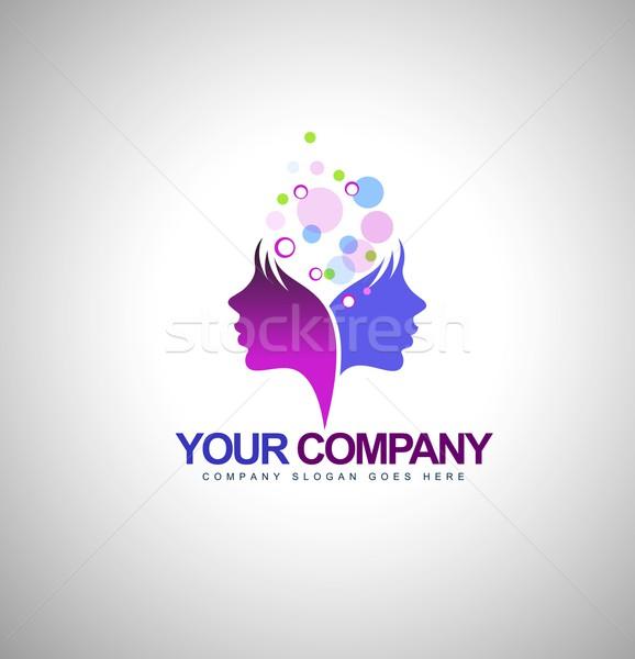 Beauty Female Face Logo Stock photo © twindesigner