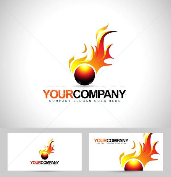 Feu flamme logo Creative vecteur conception de logo Photo stock © twindesigner